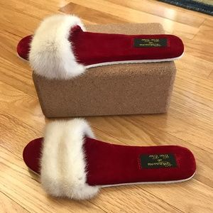 Chaussons de Cee Cee Mink Slide Slippers SZ 8
